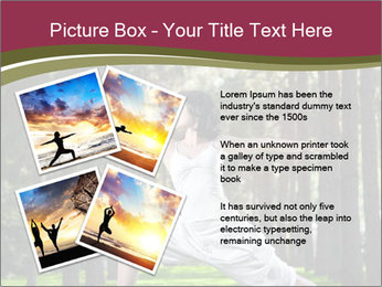 Yoga virabhadrasana PowerPoint Template - Slide 23