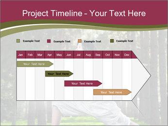 Yoga virabhadrasana PowerPoint Template - Slide 25