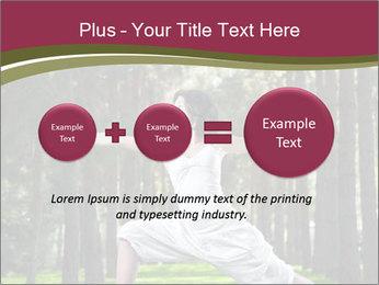 Yoga virabhadrasana PowerPoint Template - Slide 75