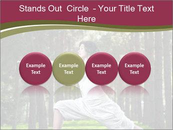 Yoga virabhadrasana PowerPoint Template - Slide 76