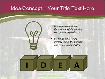 Yoga virabhadrasana PowerPoint Template - Slide 80