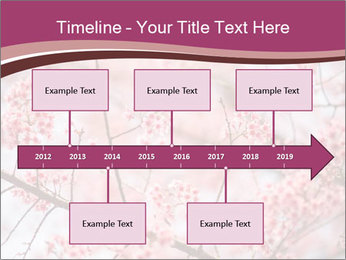 Beautiful cherry blossom PowerPoint Template - Slide 28