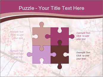 Beautiful cherry blossom PowerPoint Template - Slide 43