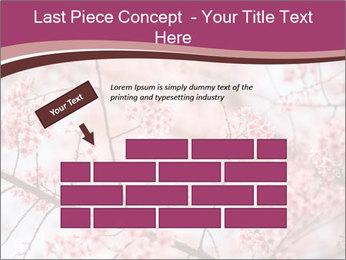Beautiful cherry blossom PowerPoint Template - Slide 46