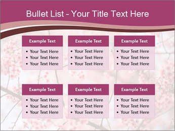 Beautiful cherry blossom PowerPoint Template - Slide 56