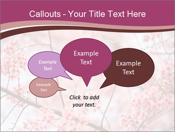 Beautiful cherry blossom PowerPoint Template - Slide 73