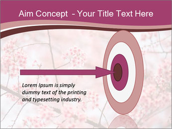 Beautiful cherry blossom PowerPoint Template - Slide 83