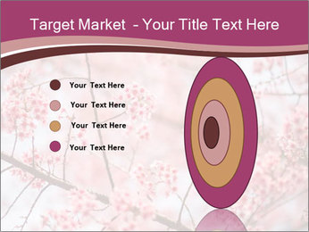 Beautiful cherry blossom PowerPoint Template - Slide 84