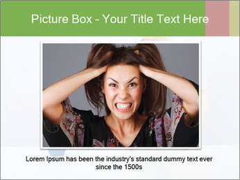 Beautiful sad woman PowerPoint Templates - Slide 15