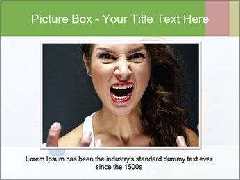 Beautiful sad woman PowerPoint Templates - Slide 16