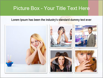 Beautiful sad woman PowerPoint Templates - Slide 19