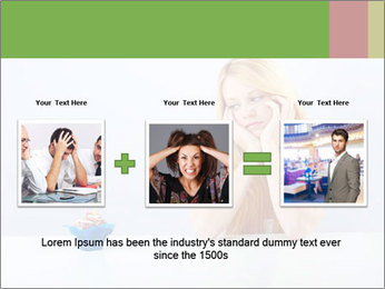 Beautiful sad woman PowerPoint Templates - Slide 22