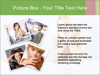 Beautiful sad woman PowerPoint Templates - Slide 23