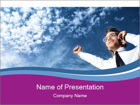 Successful business man PowerPoint Template