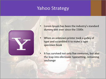 Young gypsy reading the future PowerPoint Template - Slide 11