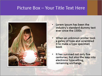 Young gypsy reading the future PowerPoint Template - Slide 13