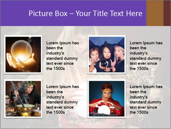Young gypsy reading the future PowerPoint Template - Slide 14