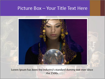 Young gypsy reading the future PowerPoint Template - Slide 15