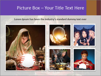 Young gypsy reading the future PowerPoint Template - Slide 19