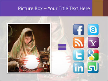Young gypsy reading the future PowerPoint Template - Slide 21