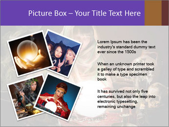 Young gypsy reading the future PowerPoint Template - Slide 23