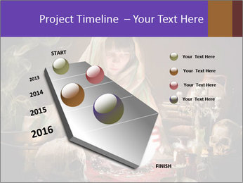 Young gypsy reading the future PowerPoint Template - Slide 26