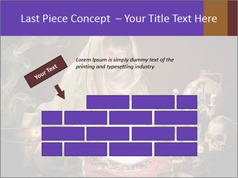 Young gypsy reading the future PowerPoint Template - Slide 46