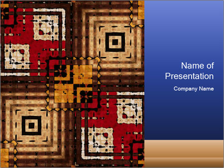 National traditional geometric pattern PowerPoint Template