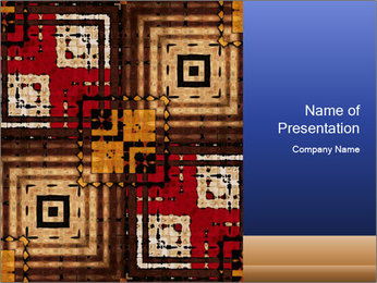 National traditional geometric pattern PowerPoint Template - Slide 1