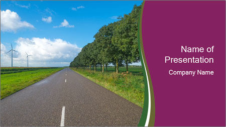 Road after rain PowerPoint Template