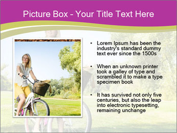Woman riding a bicycle PowerPoint Template - Slide 13