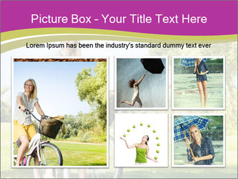Woman riding a bicycle PowerPoint Templates - Slide 19