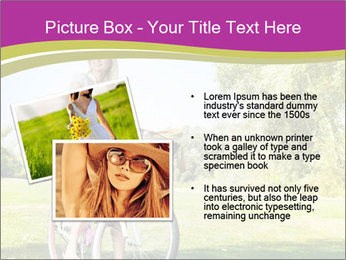 Woman riding a bicycle PowerPoint Template - Slide 20