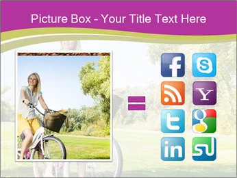 Woman riding a bicycle PowerPoint Template - Slide 21