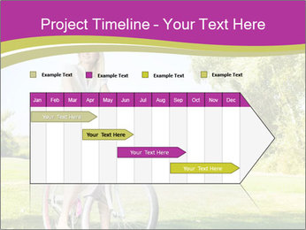 Woman riding a bicycle PowerPoint Template - Slide 25