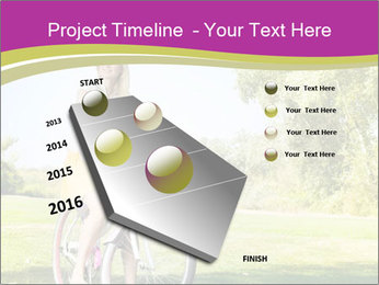 Woman riding a bicycle PowerPoint Template - Slide 26