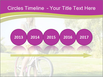 Woman riding a bicycle PowerPoint Template - Slide 29