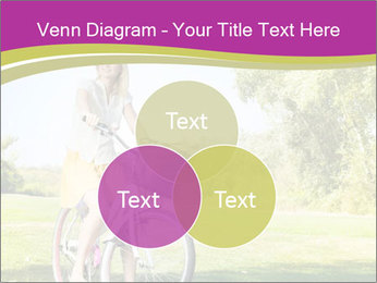 Woman riding a bicycle PowerPoint Templates - Slide 33