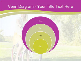 Woman riding a bicycle PowerPoint Template - Slide 34
