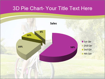 Woman riding a bicycle PowerPoint Templates - Slide 35
