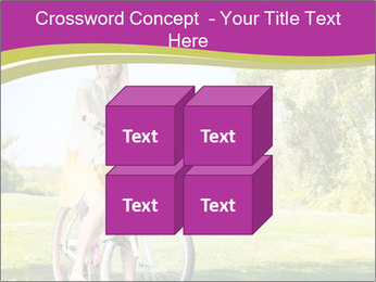 Woman riding a bicycle PowerPoint Template - Slide 39