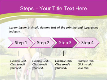 Woman riding a bicycle PowerPoint Templates - Slide 4