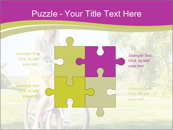Woman riding a bicycle PowerPoint Template - Slide 43