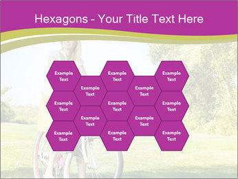 Woman riding a bicycle PowerPoint Template - Slide 44