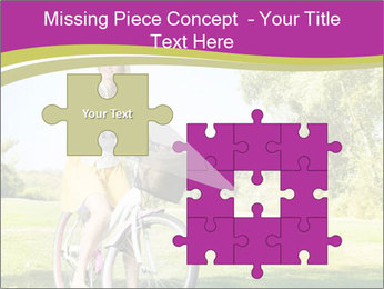 Woman riding a bicycle PowerPoint Template - Slide 45