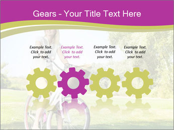 Woman riding a bicycle PowerPoint Template - Slide 48