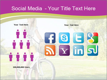 Woman riding a bicycle PowerPoint Templates - Slide 5