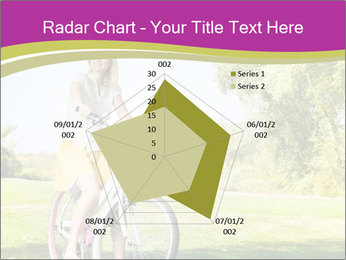 Woman riding a bicycle PowerPoint Template - Slide 51
