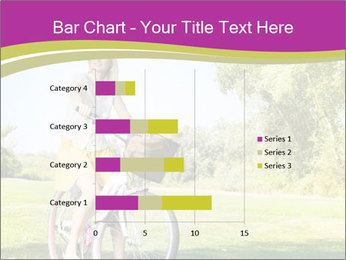 Woman riding a bicycle PowerPoint Templates - Slide 52
