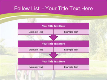 Woman riding a bicycle PowerPoint Templates - Slide 60